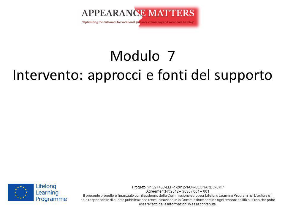 Intervento: approcci e fonti del supporto