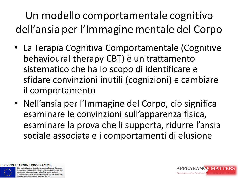 Un modello comportamentale cognitivo dell'ansia per l'Immagine mentale del Corpo