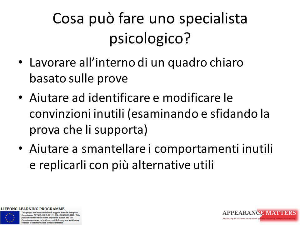 Cosa può fare uno specialista psicologico