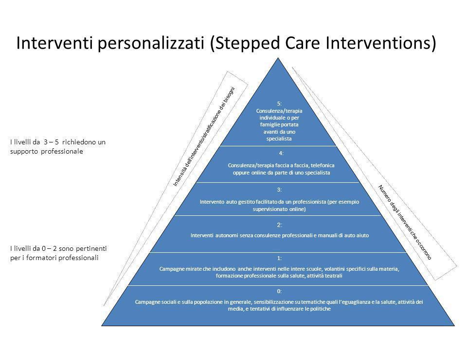 Interventi personalizzati (Stepped Care Interventions)