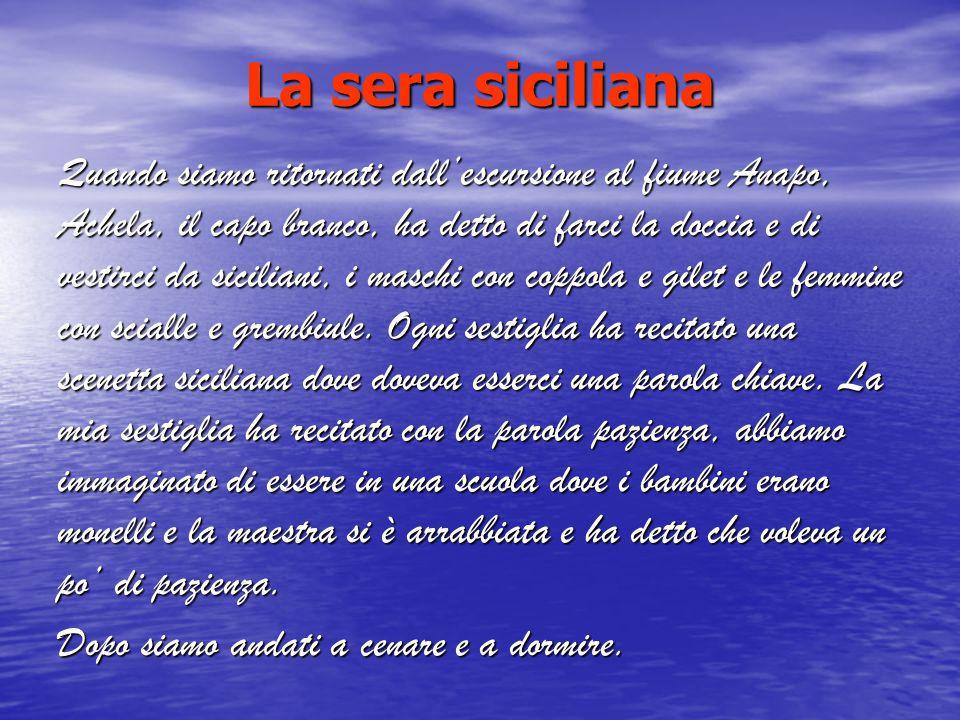 La sera siciliana