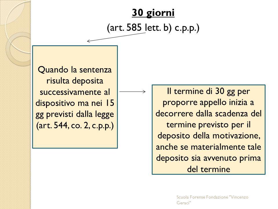 30 giorni (art. 585 lett. b) c.p.p.)