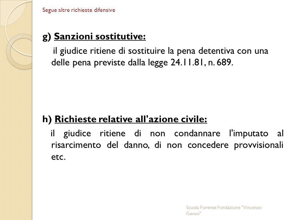 g) Sanzioni sostitutive:
