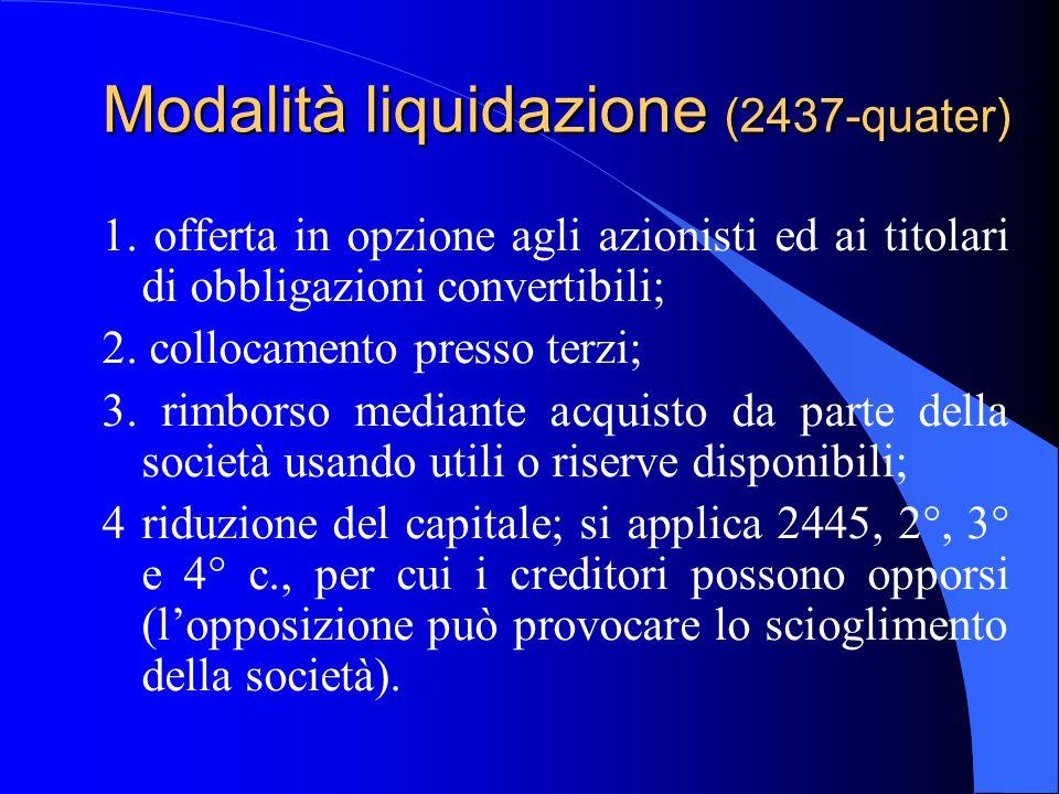 Modalità liquidazione (2437-quater)