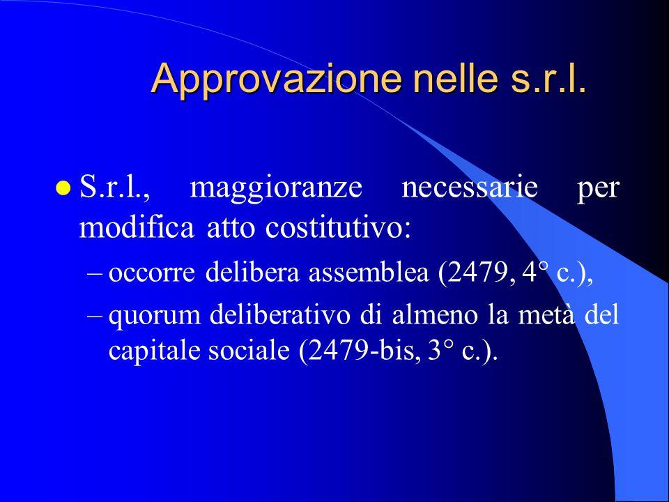 Approvazione nelle s.r.l.