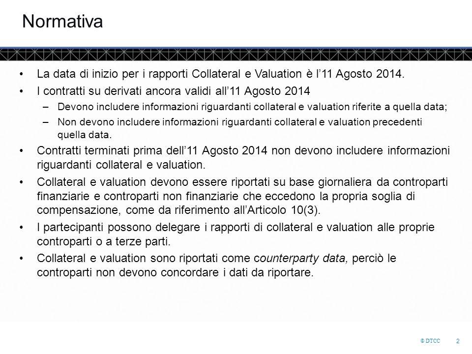 Normativa La data di inizio per i rapporti Collateral e Valuation è l'11 Agosto 2014. I contratti su derivati ancora validi all'11 Agosto 2014.