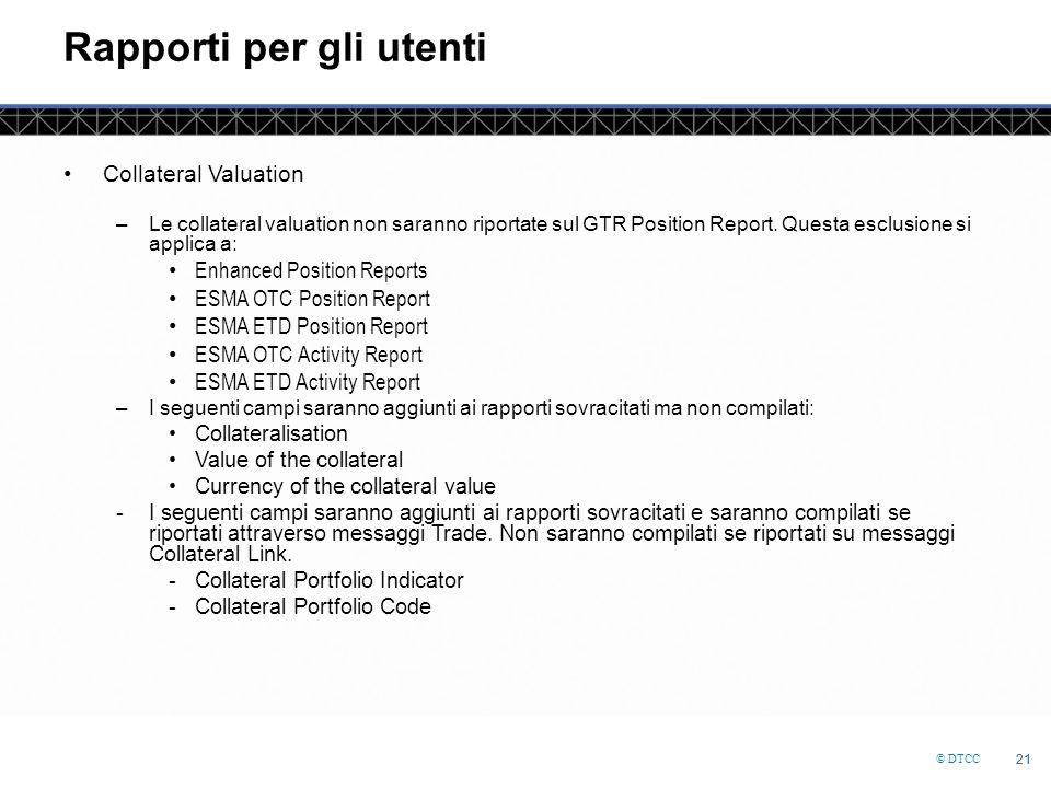 Rapporti per gli utenti