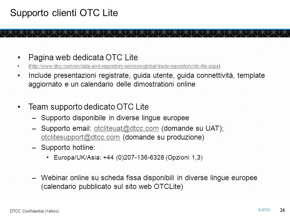 Supporto clienti OTC Lite