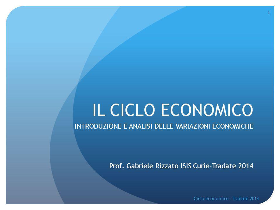 IL CICLO ECONOMICO INTRODUZIONE E ANALISI DELLE VARIAZIONI ECONOMICHE