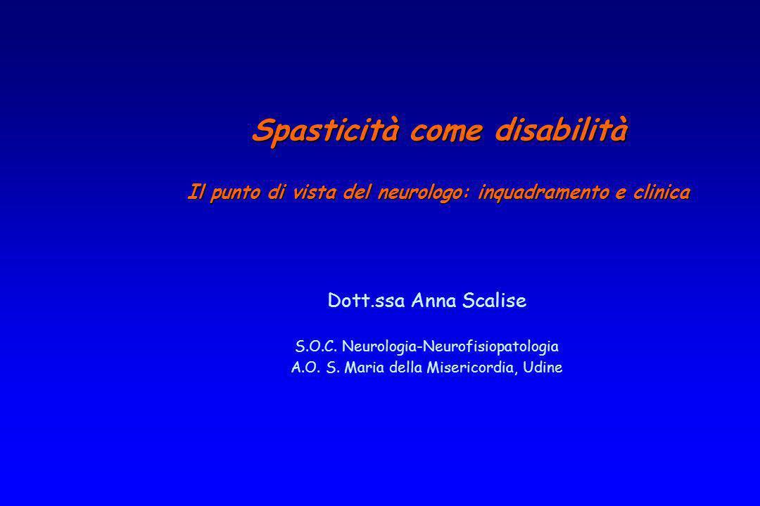 Spasticità come disabilità
