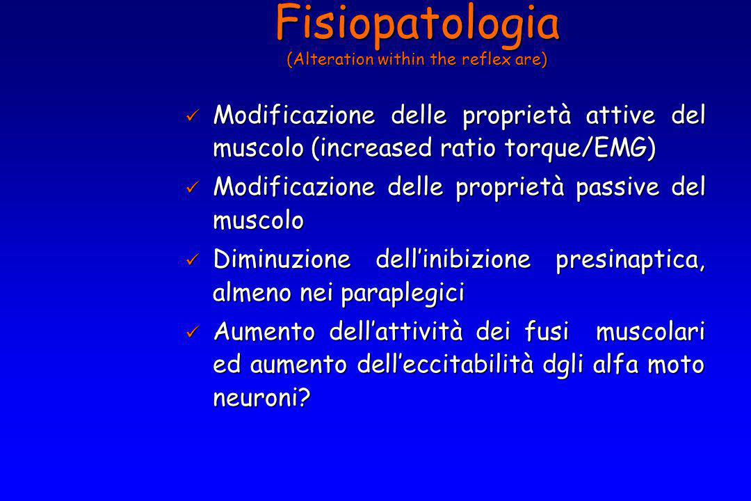 Fisiopatologia (Alteration within the reflex are)