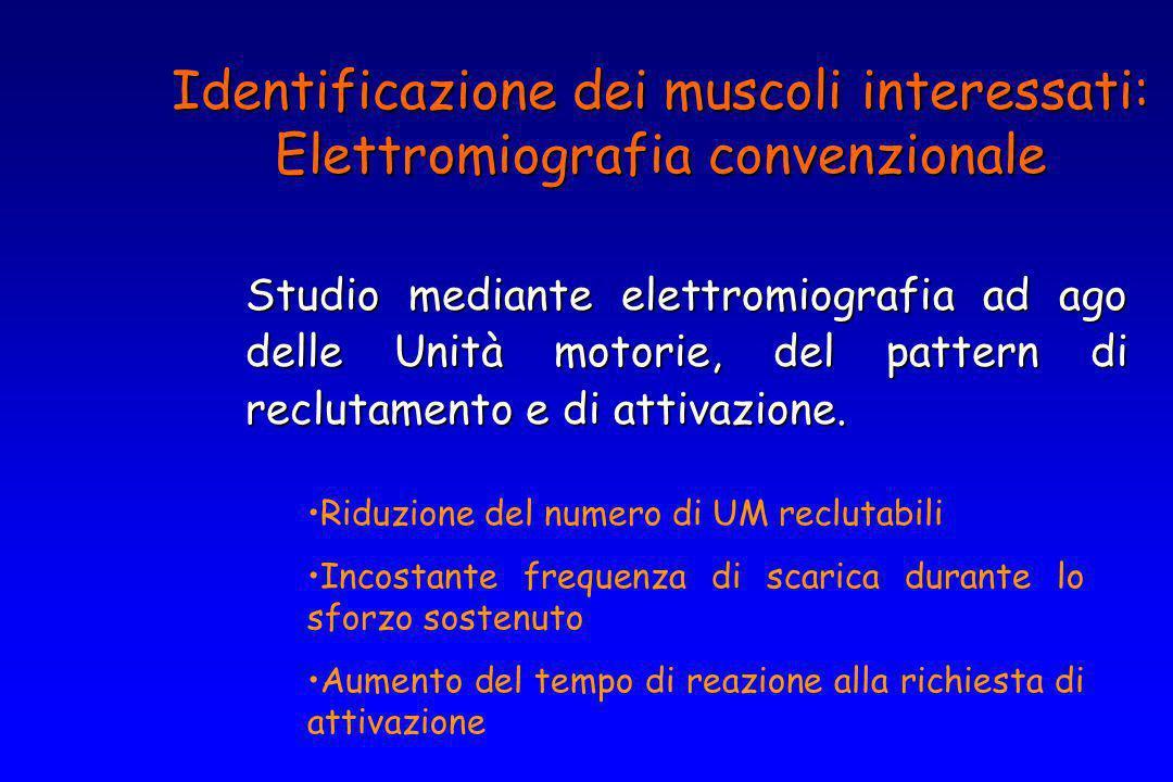 Identificazione dei muscoli interessati: Elettromiografia convenzionale