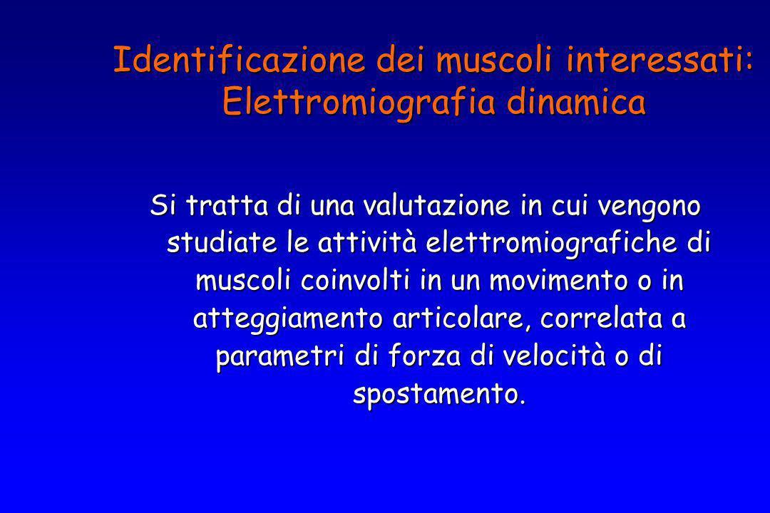Identificazione dei muscoli interessati: Elettromiografia dinamica