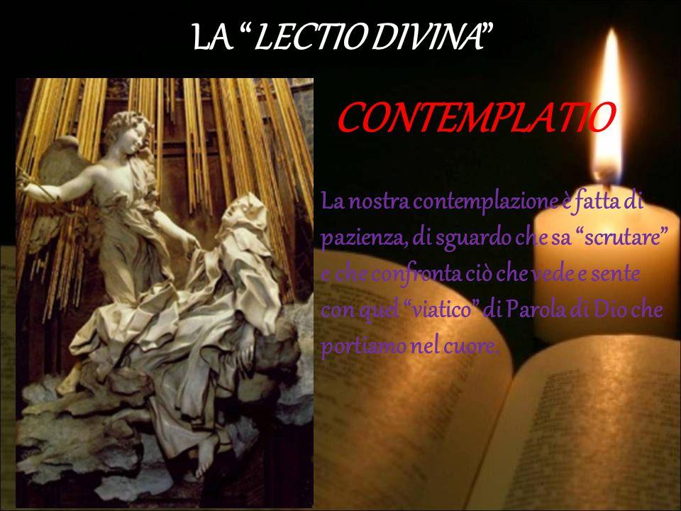 CONTEMPLATIO LA LECTIO DIVINA