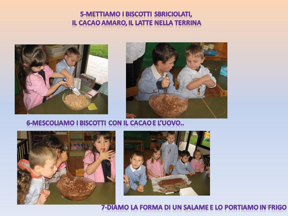 5-Mettiamo i biscotti sbriciolati,
