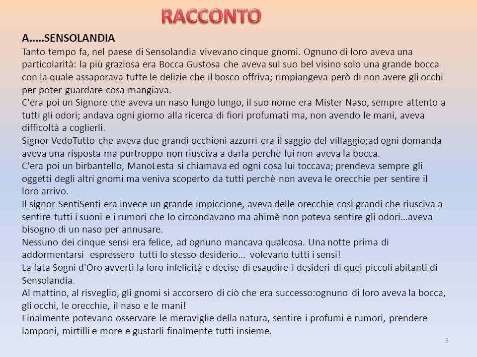 RACCONTO A.....SENSOLANDIA
