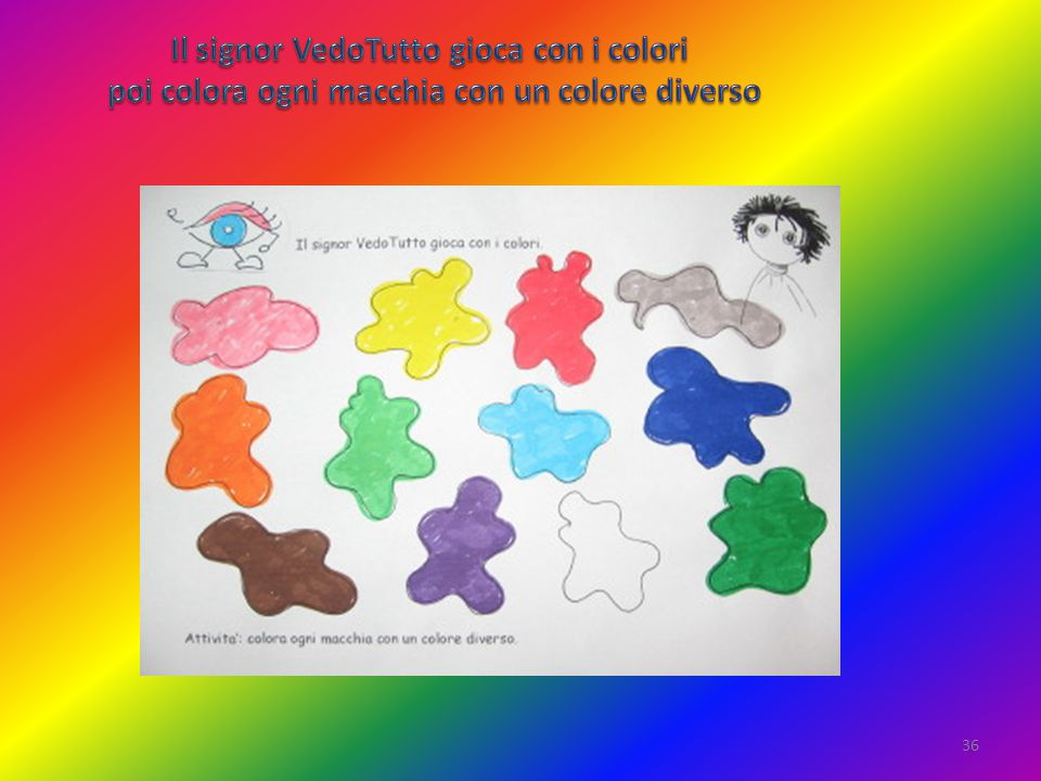 Il signor VedoTutto gioca con i colori