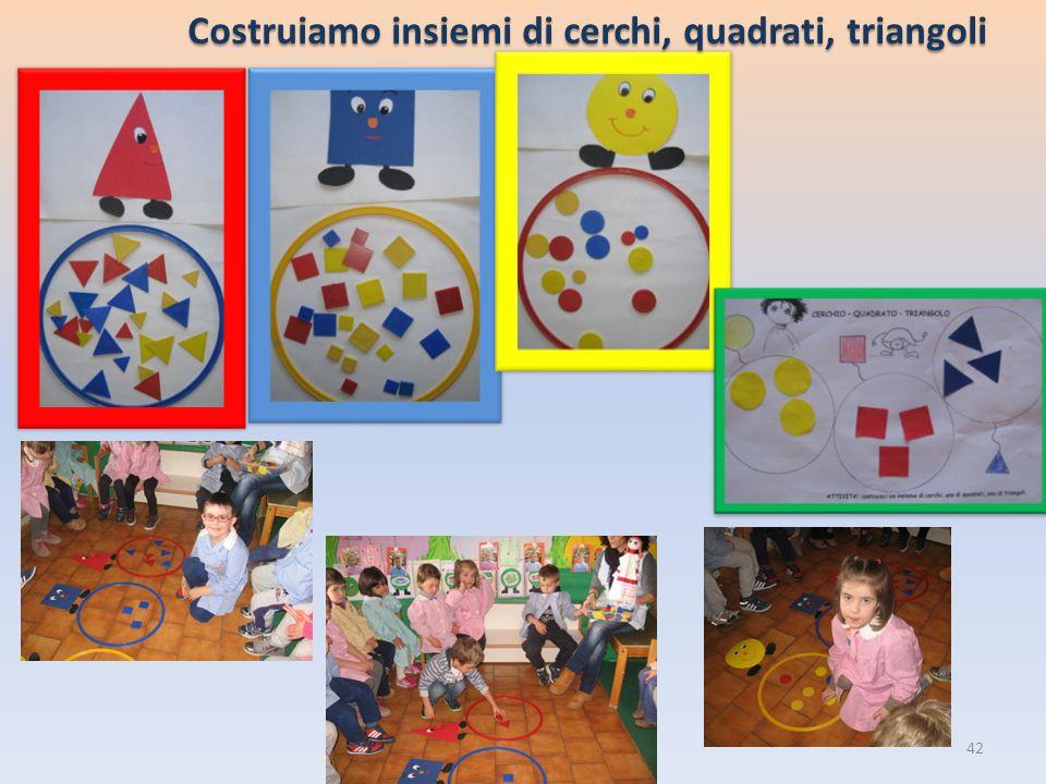 Costruiamo insiemi di cerchi, quadrati, triangoli