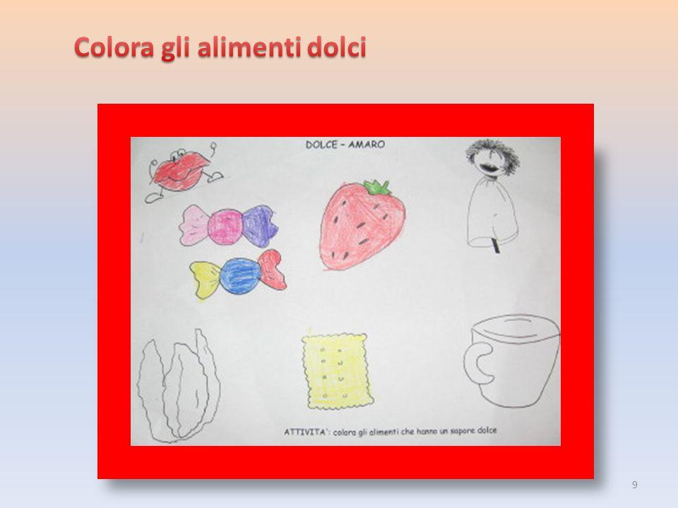 Colora gli alimenti dolci