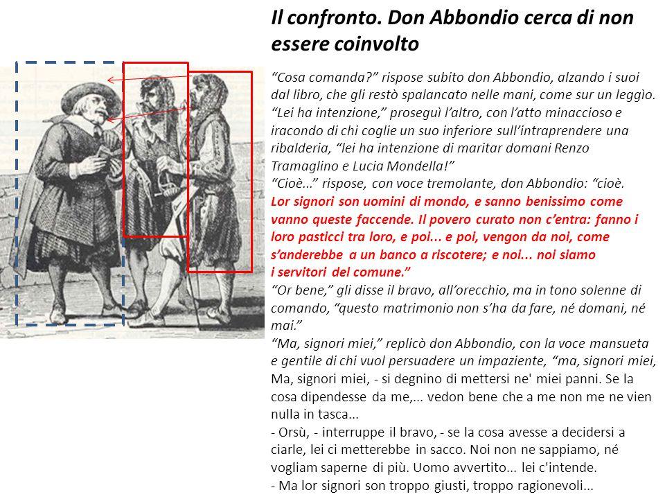 Il confronto. Don Abbondio cerca di non essere coinvolto
