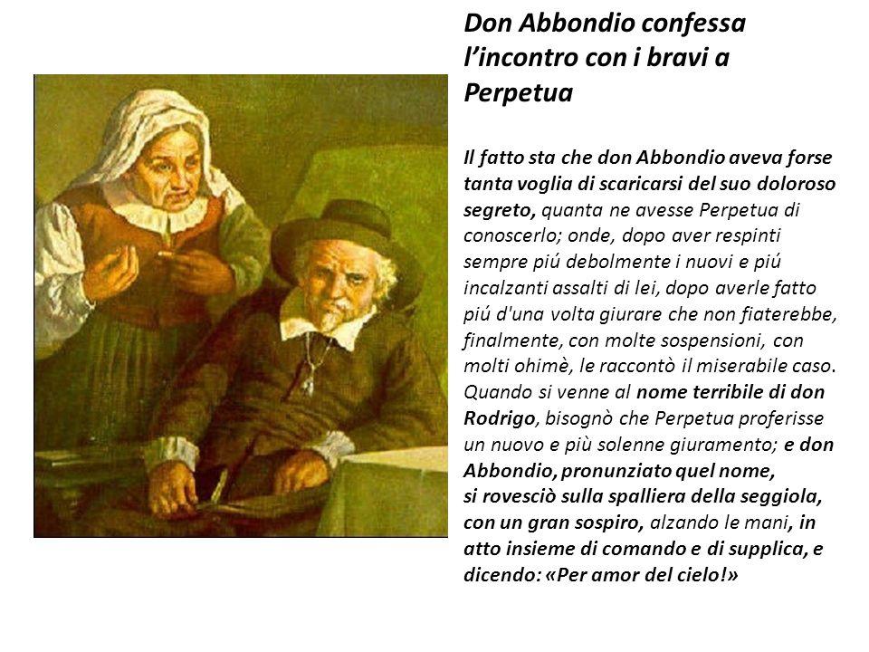 Don Abbondio confessa l'incontro con i bravi a Perpetua