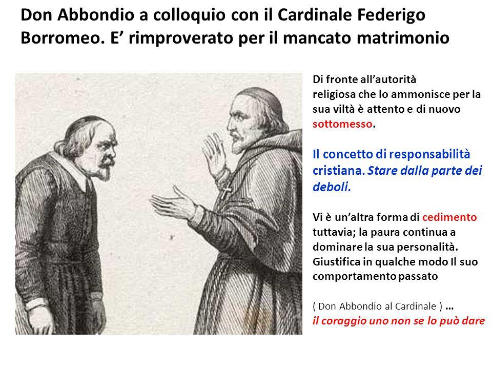 Don Abbondio a colloquio con il Cardinale Federigo Borromeo