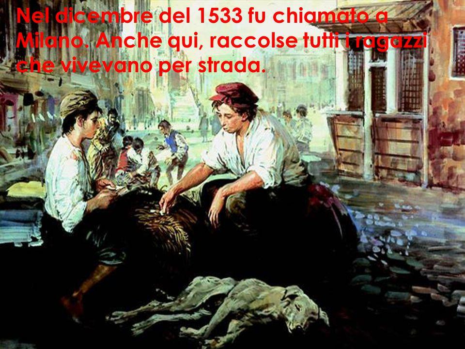Nel dicembre del 1533 fu chiamato a Milano