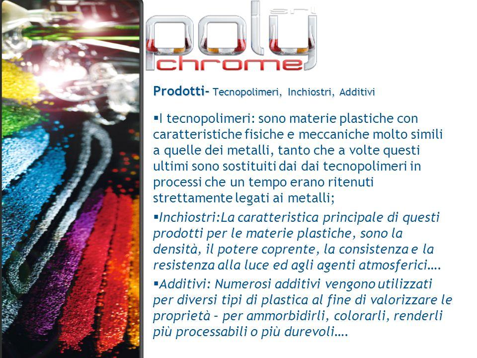 Prodotti- Tecnopolimeri, Inchiostri, Additivi
