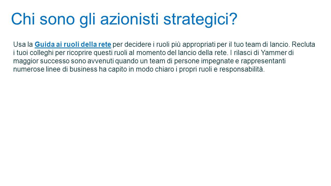 Chi sono gli azionisti strategici