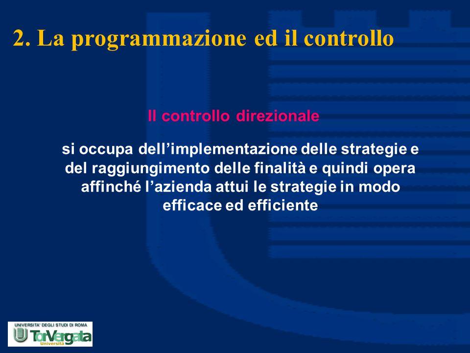 2. La programmazione ed il controllo