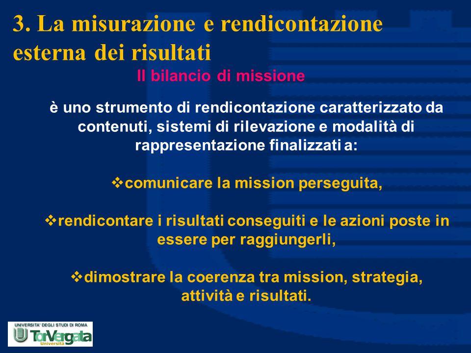 3. La misurazione e rendicontazione esterna dei risultati
