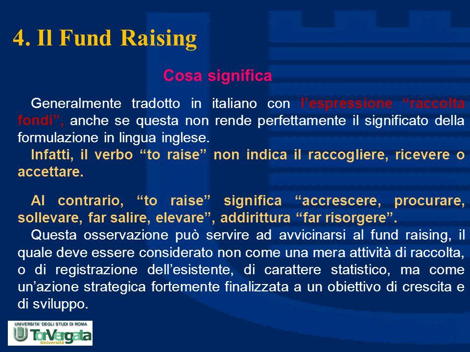 4. Il Fund Raising Cosa significa
