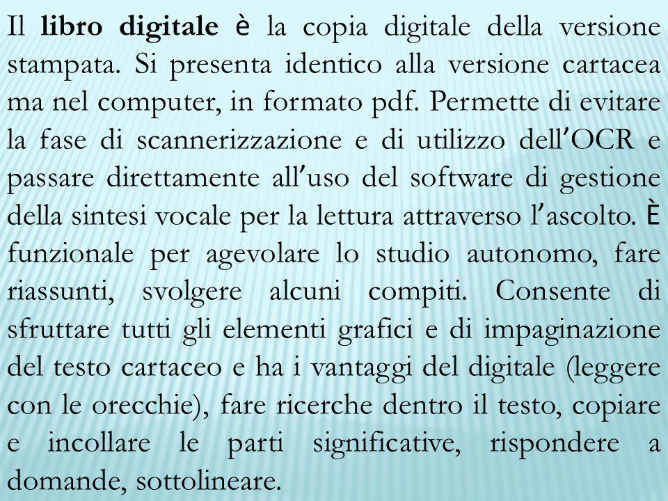 Il libro digitale è la copia digitale della versione stampata