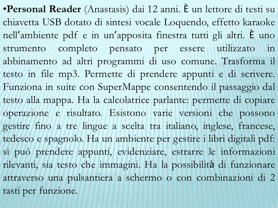 Personal Reader (Anastasis) dai 12 anni