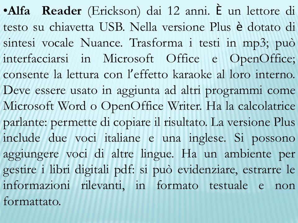 Alfa Reader (Erickson) dai 12 anni