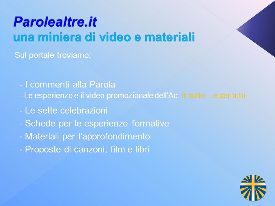 Parolealtre.it una miniera di video e materiali