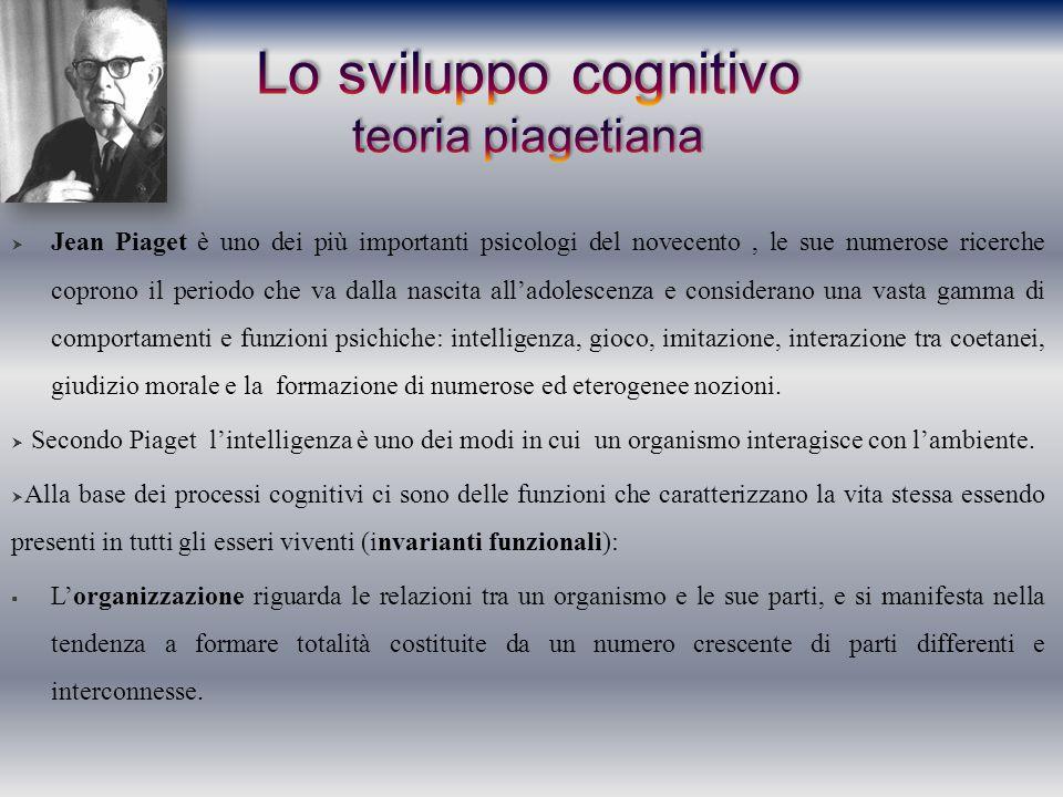 Lo sviluppo cognitivo teoria piagetiana