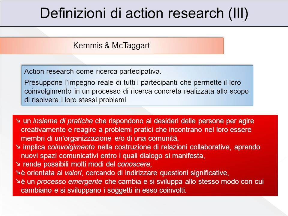 Definizioni di action research (III)