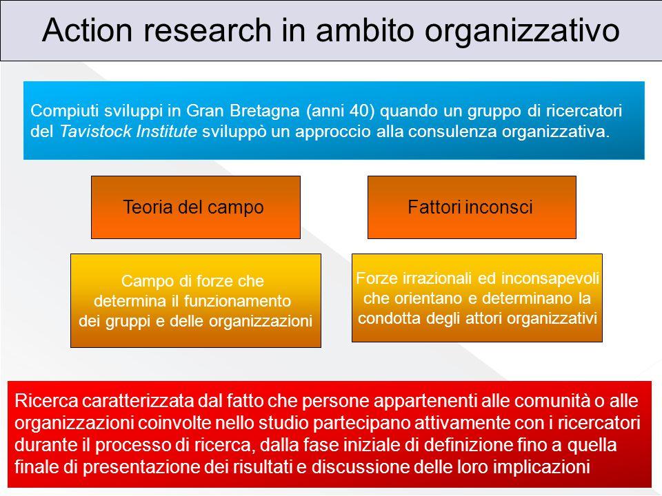 Action research in ambito organizzativo
