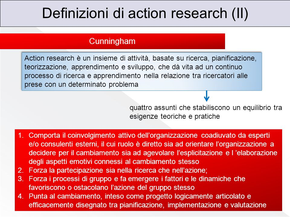 Definizioni di action research (II)