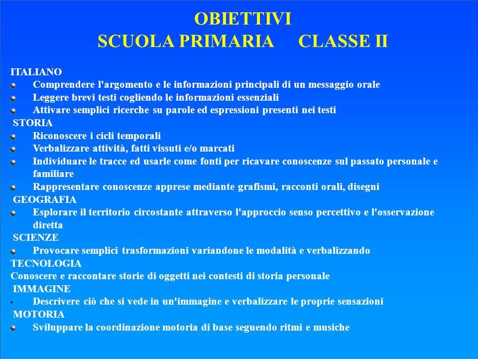 SCUOLA PRIMARIA CLASSE II