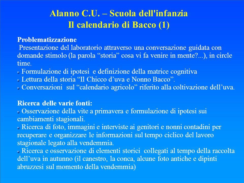 Alanno C.U. – Scuola dell infanzia Il calendario di Bacco (1)