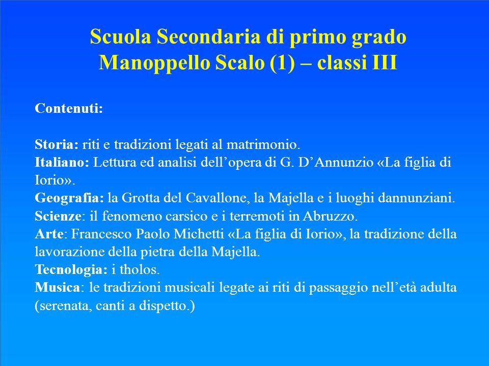Scuola Secondaria di primo grado Manoppello Scalo (1) – classi III