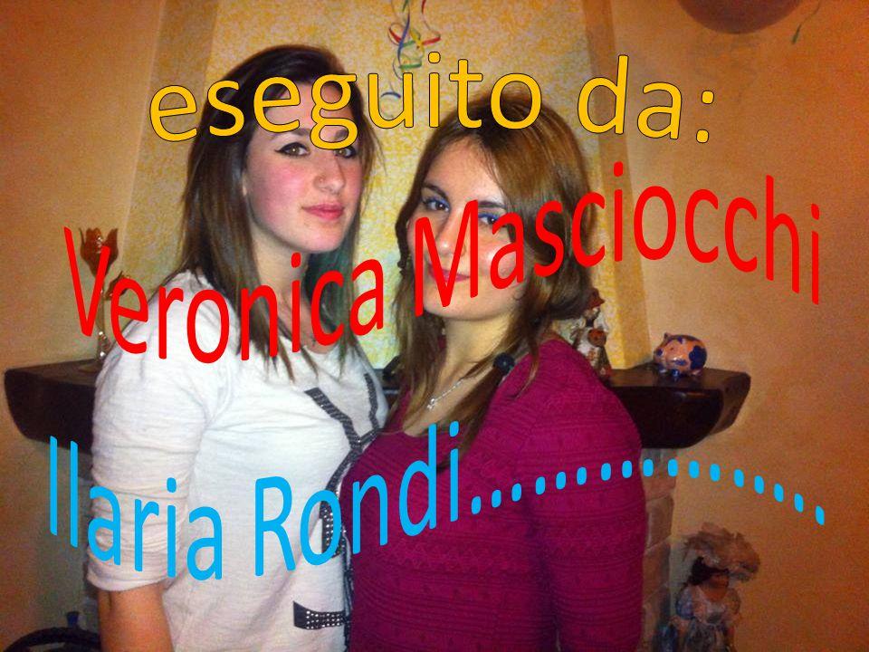 eseguito da: Veronica Masciocchi Ilaria Rondi……………..