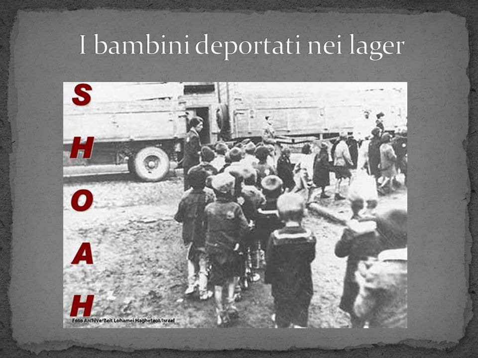 I bambini deportati nei lager