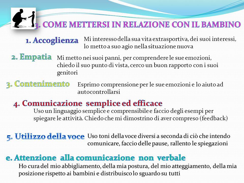 3. COME METTERSI IN RELAZIONE CON IL BAMBINO