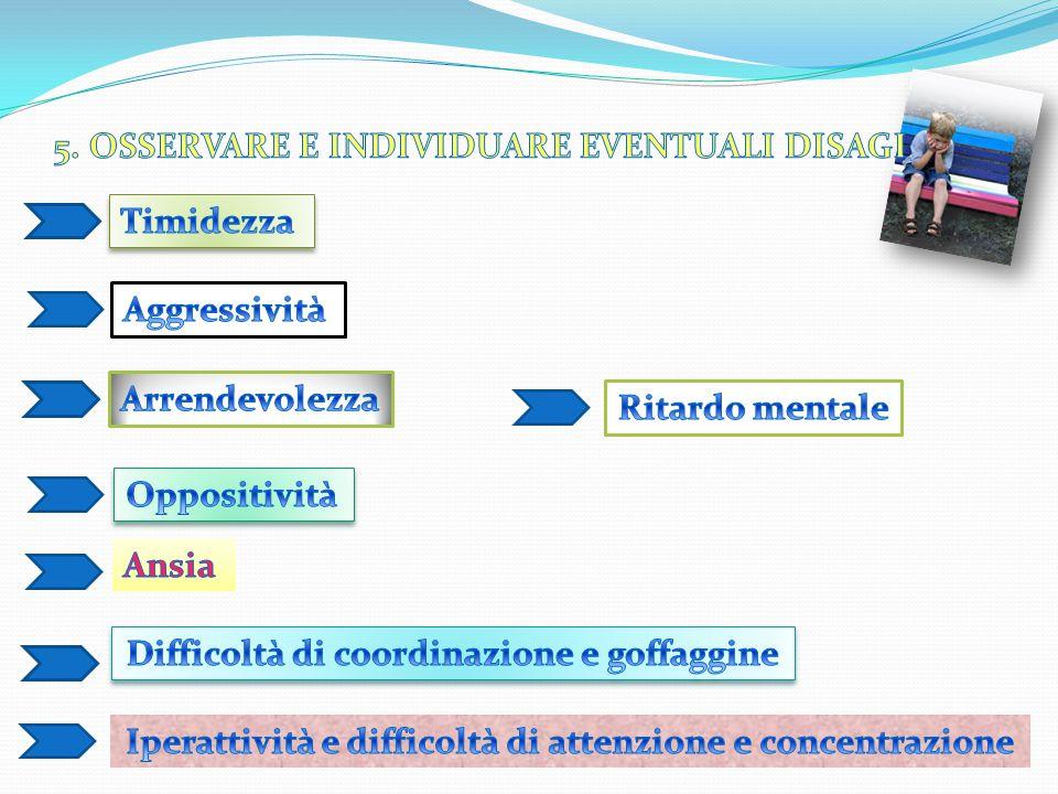 5. OSSERVARE E INDIVIDUARE EVENTUALI DISAGI