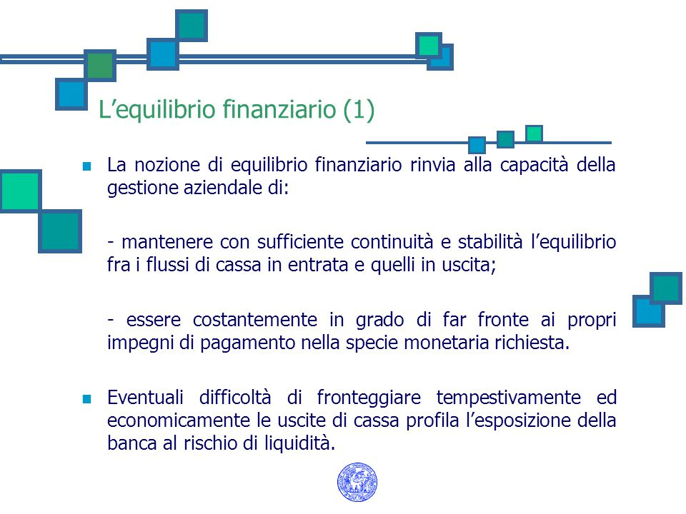 L'equilibrio finanziario (1)