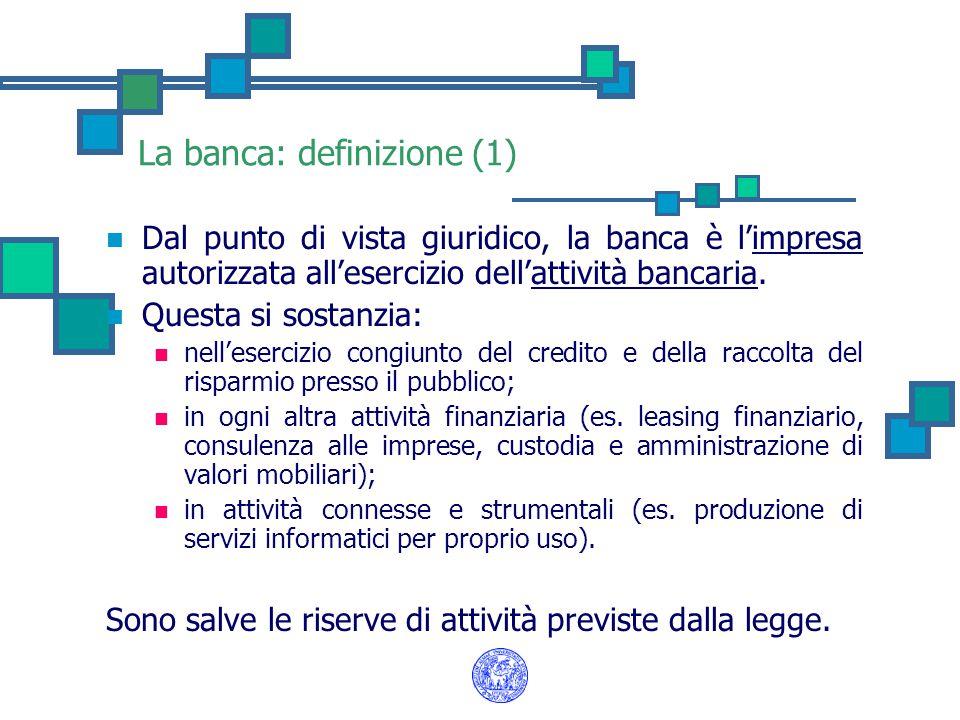 La banca: definizione (1)