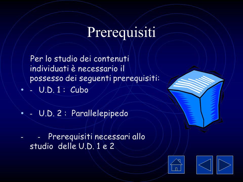 Prerequisiti Per lo studio dei contenuti individuati è necessario il possesso dei seguenti prerequisiti: